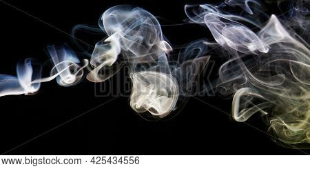 Abstract Blue And Orange Smoke Background