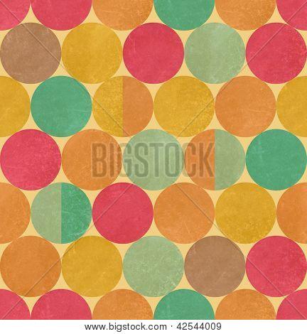 Retro geometric seamless pattern with seamless texture
