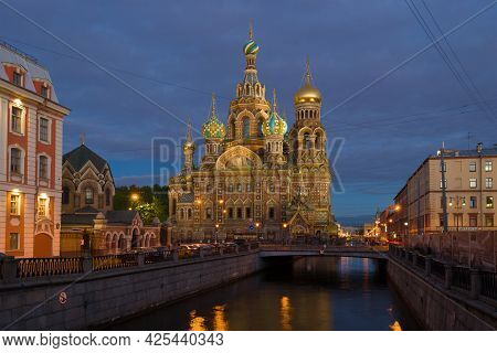 Saint Petersburg, Russia - May 29, 2017: View Of The Cathedral Of The Resurrection Of Christ (savior