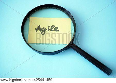 Software Scrum Agile Board With Paper Task, Agile Software Development Methodologies Concept, Closeu