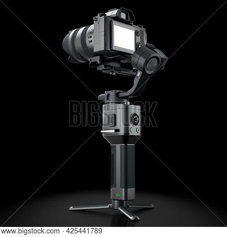3-axis Gimbal Stabilization System With Nonexistent Mirrorless Camera Isolated