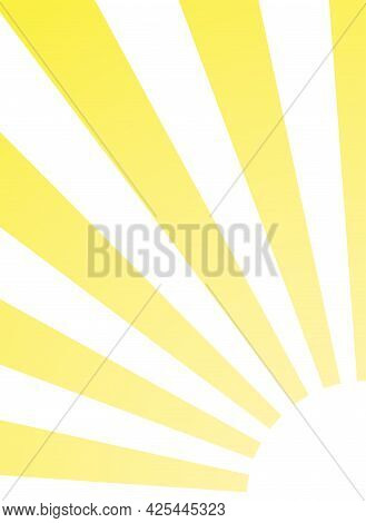 Sunlight Rays Glow Vertical Background. Bright Yellow Color Burst Background. Vector Illustration. S