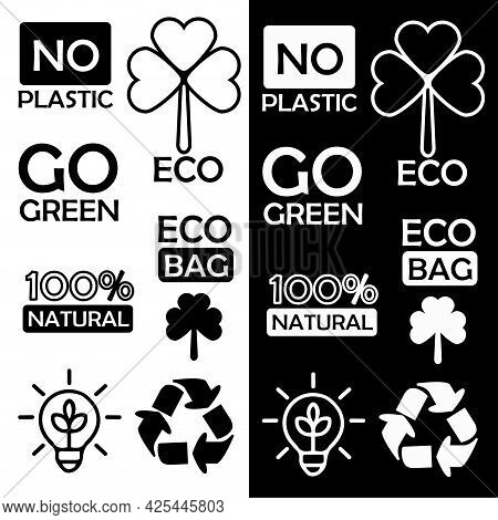 Vector Illustration Of Icons With Environmental Themes. Isolated Image Of Environmental Symbols.