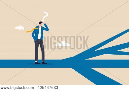 Business Direction, Choosing Options Or Multiple Path, Make Decision For Career Path Or Business Gro