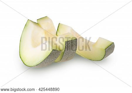 Slice Of Melon Isolated On A White Background.