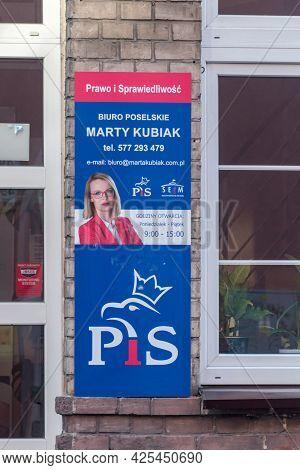 Pila, Poland - May 31, 2021: Deputies Office Of Member Of Prawo I Sprawiedliwosc Marta Kubiak.