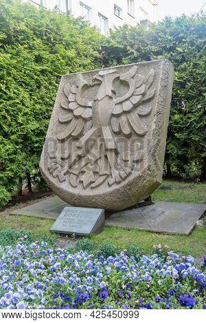 Gorzow Wielkopolski, Poland - June 1, 2021: Coat Of Arms Of Gorzow Wielkopolski.