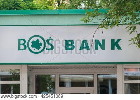 Gorzow Wielkopolski, Poland - June 1, 2021: Logo Of Bank Ochrony Srodowiska, Bos Bank. Bank Speciali