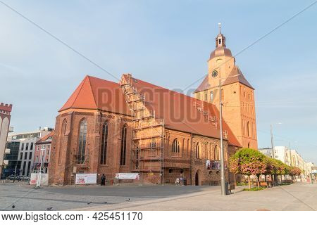 Gorzow Wielkopolski, Poland - June 1, 2021: St. Mary's Cathedral.