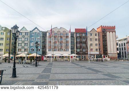 Gorzow Wielkopolski, Poland - June 1, 2021: Architecture Of Old Town Of Gorzow Wielkopolski.