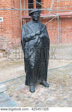 Gorzow Wielkopolski, Poland - June 1, 2021: Monument To Polish Roman Catholic Priest  Witold Andrzej