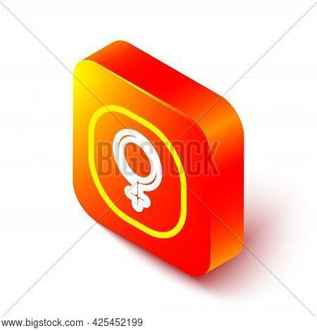 Isometric Line Venus Symbol Icon Isolated On White Background. Astrology, Numerology, Horoscope, Ast