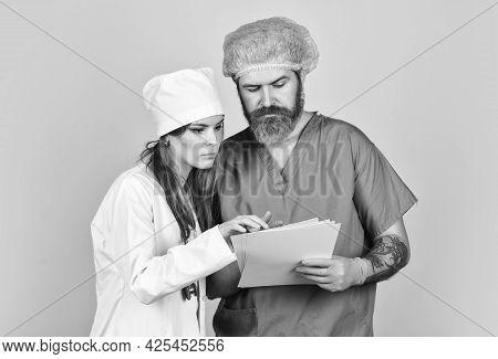 Diagnostics. Health Care. Surgery Concept. Medical Services. Nurse And Doctor. Virus Epidemic. Medic