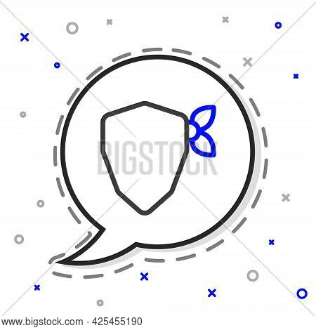 Line Vandal Icon Isolated On White Background. Colorful Outline Concept. Vector