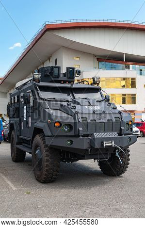 Armored Vehicle. Armored Car Of The Varta Brand At The International Exhibition Arms And Security -