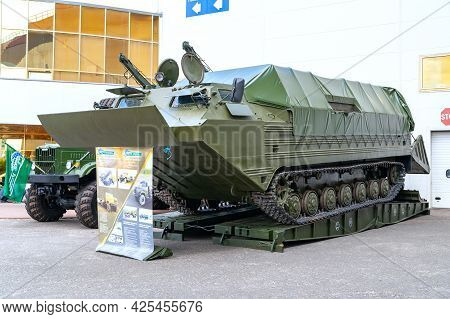 Armored Personnel Carrier. Floating Armored Personnel Carrier Of Technical Support At The Internatio
