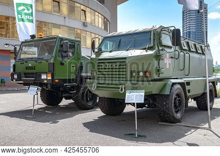 Armored Car. Armored Car Kraz-khalk At The International Exhibition Arms And Security - 2021. Select