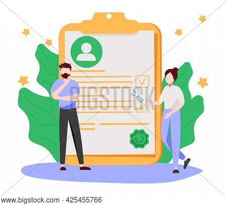 Hr And Headhunter Service Abstract Concept Vector Illustration. Human Resources, Candidates, Perform