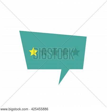 Low Rate On The Star Rate Concept. Stock Vector