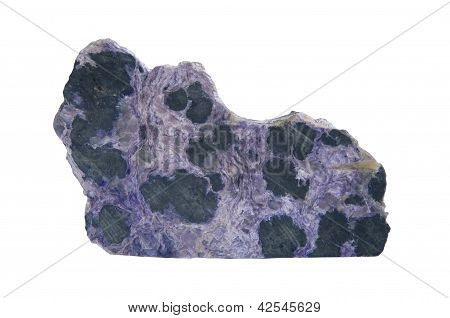 Charoite Crystal On White Background
