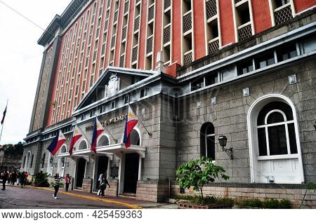 Palacio Del Gobernador Or Palace Of The Governor Government Building Located In Intramuros For Filip