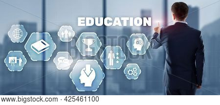 Education Process Of Facilitating Learning. Business Education Concept