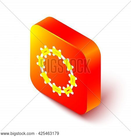 Isometric Line Crown Of Thorns Of Jesus Christ Icon Isolated On White Background. Religion, Bible, C