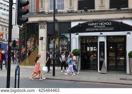 London, Uk - July 9, 2016: Harvey Nichols Flagship Store In Knightsbridge, London. Harvey Nichols Is
