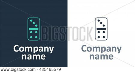 Logotype Domino Icon Isolated On White Background. Logo Design Template Element. Vector