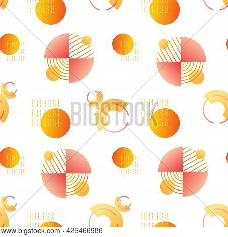 Contemporary Vector Seamless Geometric Pattern. Abstract Shapes And Forms As Design Elements. Backgr