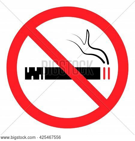 No Smoking. Stop Smoke, Sign. Prohibited Symbol. Hotel Service Symbol. No Smoking Icon Vector
