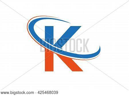 K Logo Design. K Letter Logo Design With Modern Trendy. K Letter Logo