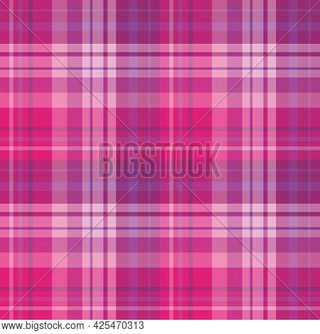 Seamless Pattern In Pink And Violet Colors For Plaid, Fabric, Textile, Clothes, Tablecloth And Other