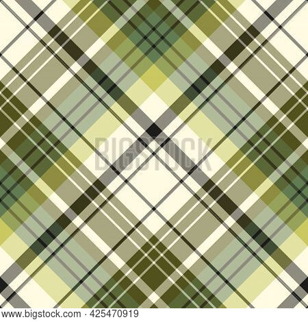 Seamless Pattern In Green Colors For Plaid, Fabric, Textile, Clothes, Tablecloth And Other Things. V