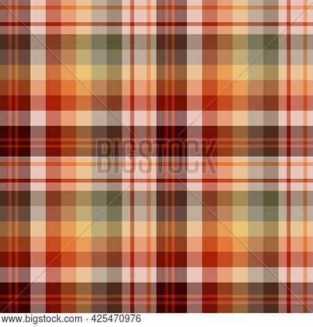 Seamless Pattern In Festive Colors For Plaid, Fabric, Textile, Clothes, Tablecloth And Other Things.