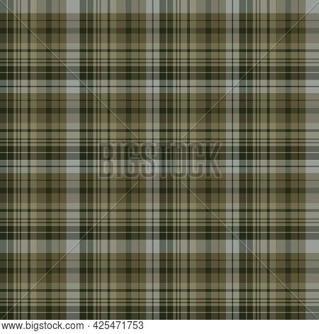 Seamless Pattern In Grey-green Colors For Plaid, Fabric, Textile, Clothes, Tablecloth And Other Thin