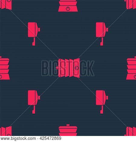 Set Frying Pan And Slow Cooker On Seamless Pattern. Vector