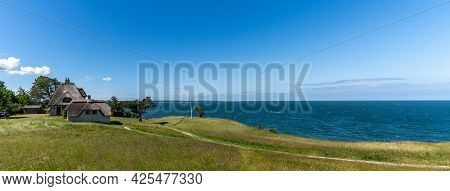 Panorama View Of The Home Of Knud Rasmussen And Shoreline In Northern Zealand