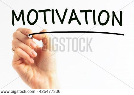 Hand Writing Inscription Motivation With Marker, Stock Image
