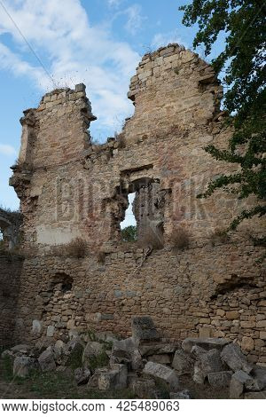 Beautiful Ruins At Santa Maria De Rioseco Old Convent. Burgos, Merindades, Spain, Europe