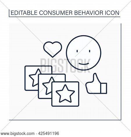 Routine Response Line Icon. Buying Same Products Everyday. Purchased Without Thought.consumer Behavi
