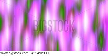 Lilac Green White Pink Festive Background With Blur And Gradient. Space For Graphic Design And Creat