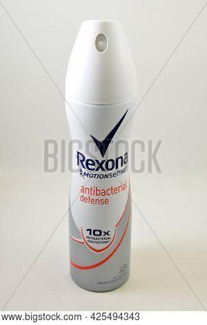 Manila, Ph - July 1 - Rexona Motion Sense Anti Bacterial Defense Body Spray On July 1, 2021 In Manil