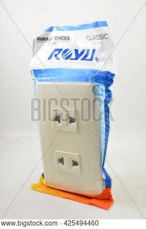 Manila, Ph - July 1 - Royu Two Gang Electrical Outlet On July 1, 2021 In Manila, Philippines.