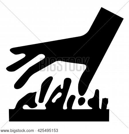 Beware Hot Surface Symbol Isolate On White Background,vector Illustration
