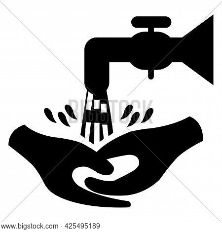 Symbol Wash Your Hands Please Isolate On White Background,vector Illustration Eps.10
