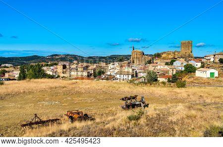 Luesia Village In Zaragoza Province Of Spain