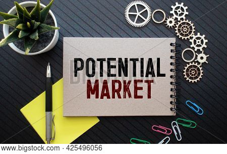 Market Potential And Marketing Research-letterhead In A Folder On The Manager's Desk. Planning Strat