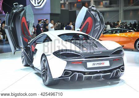 Bangkok-april 4 Mcralen 570s Car At The 38th Bangkok International Motor Show 2017 On April 4, 2017