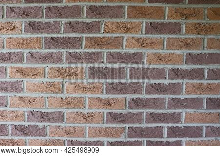 Brick Wall Abstract Photo Background In Cozy Warm Earthy Brown Colors